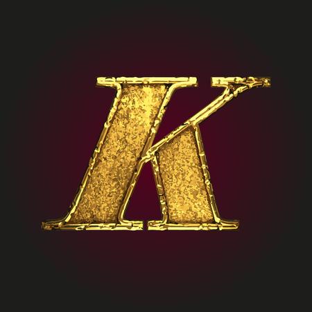 solid figure: k vector golden letter