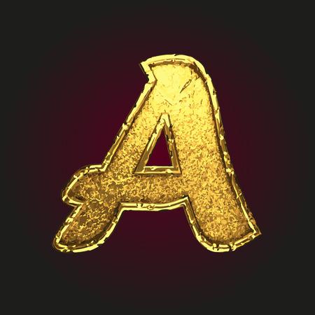golden texture: a vector golden letter Illustration