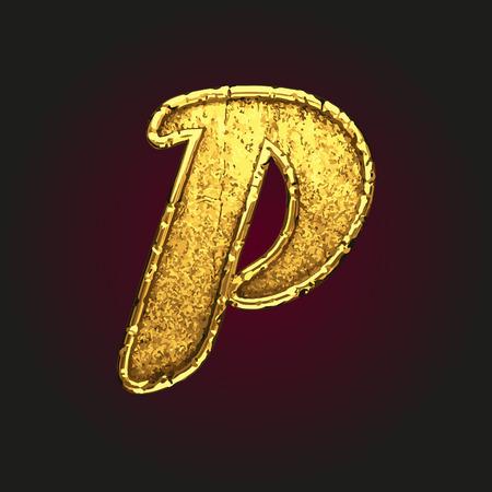 solid figure: p vettore lettera d'oro