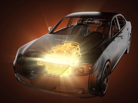 autos: transparent car concept Stock Photo