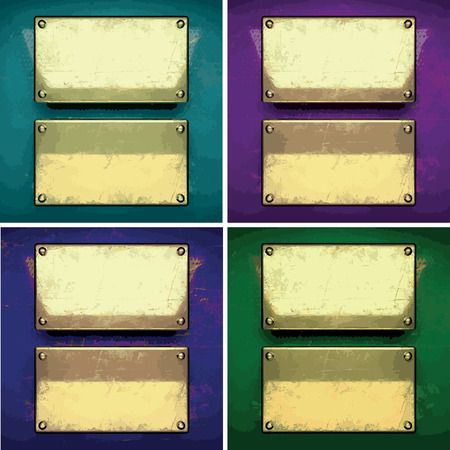 karats: vector color painted golden background set Illustration