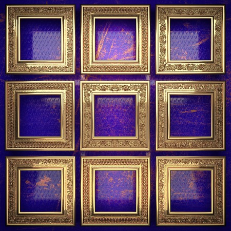 karats: golden background painted in blue