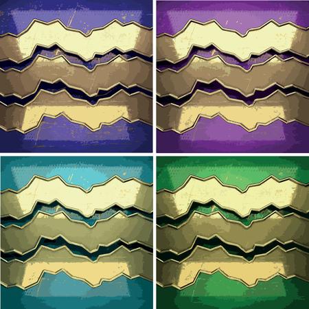 karats: color painted golden background set