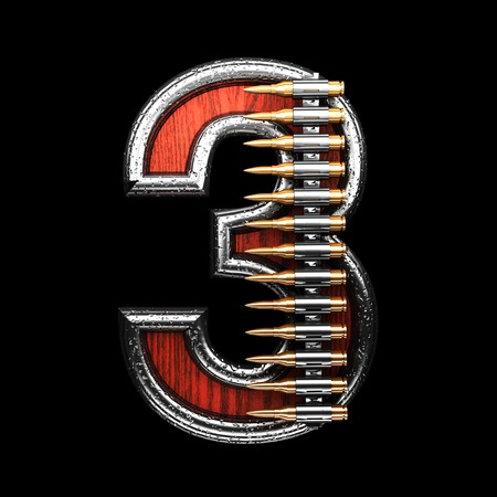 abstruse: 3 military letter. 3D illustration