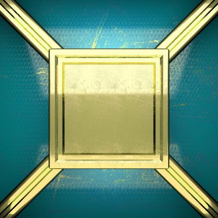karats: golden background painted in blue. 3D illustration