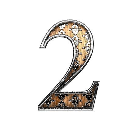 abstruse: 2 silver letter. 3D illustration