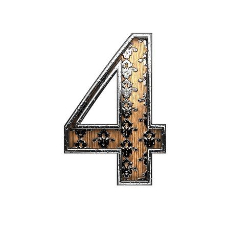 abstruse: 4 silver letter. 3D illustration