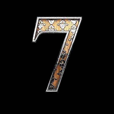 abstruse: 7 silver letter. 3D illustration