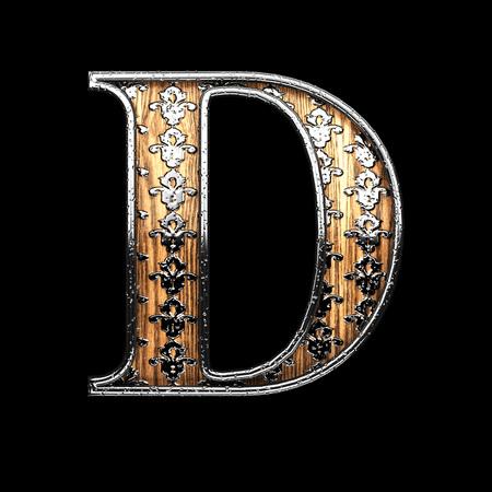 abstruse: d silver letter. 3D illustration
