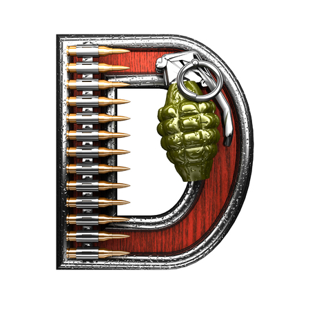 abstruse: d military letter. 3D illustration