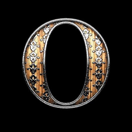abstruse: o silver letter. 3D illustration Stock Photo