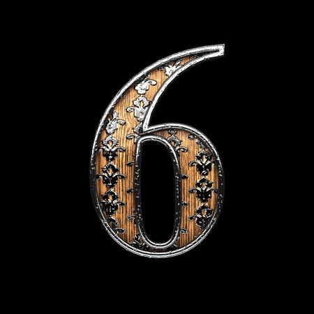 abstruse: 6 silver letter. 3D illustration Stock Photo