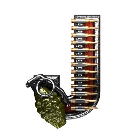 abstruse: j military letter. 3D illustration Stock Photo