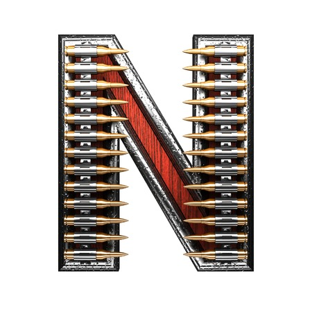 abstruse: n military letter. 3D illustration