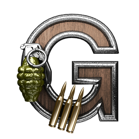 abstruse: g military letter. 3D illustration Stock Photo
