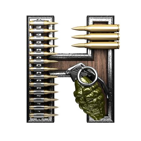 abstruse: h military letter. 3D illustration Stock Photo
