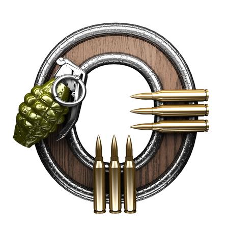 abstruse: o military letter. 3D illustration