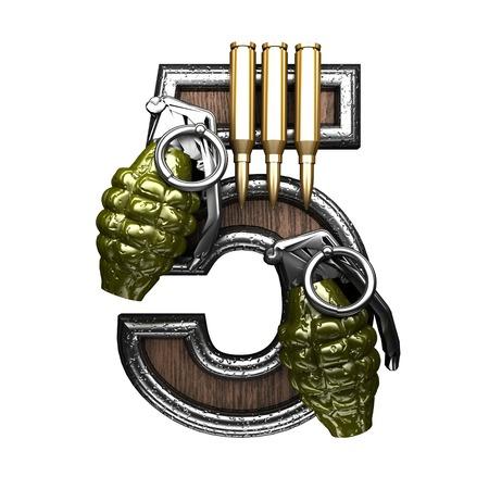 abstruse: 5 military letter. 3D illustration