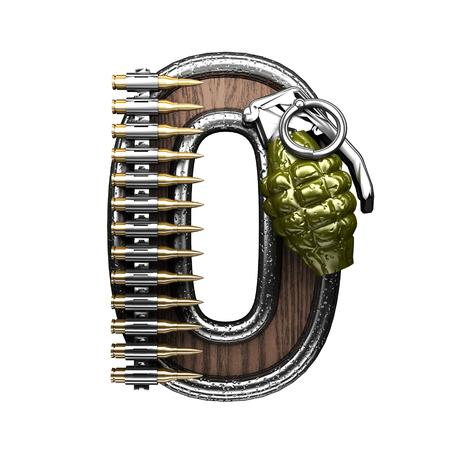 0 military letter. 3D illustration Stock Photo