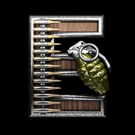 abstruse: e military letter. 3D illustration