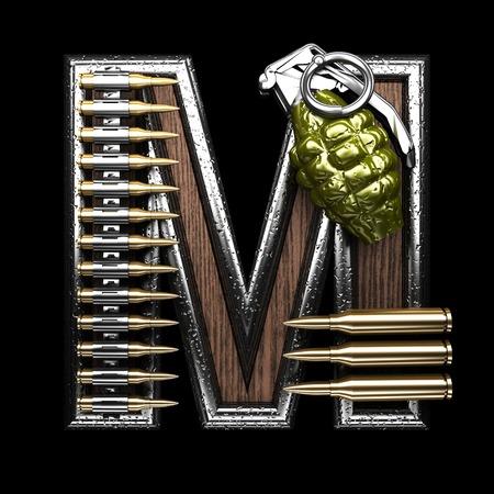 abstruse: m military letter. 3D illustration