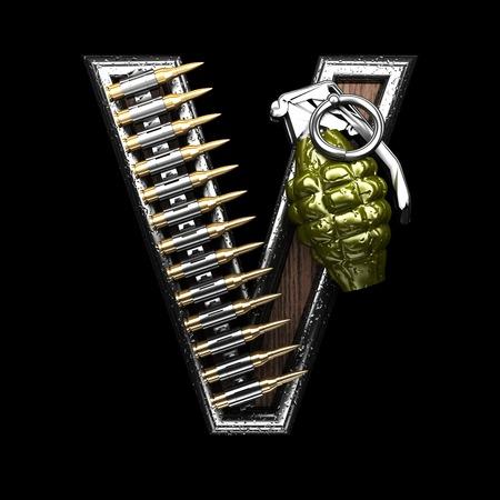 abstruse: v military letter. 3D illustration Stock Photo