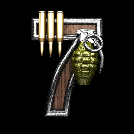 abstruse: 7 military letter. 3D illustration