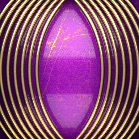 karats: golden background painted in violet. 3D illustration Stock Photo