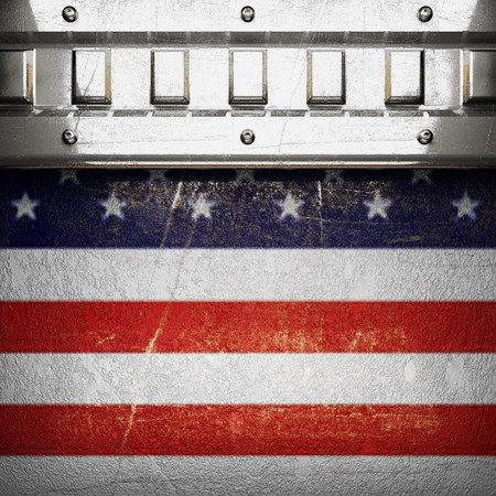 karats: silver background painted to US flag. 3D illustration Stock Photo