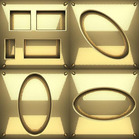 golden texture: golden texture background set Stock Photo