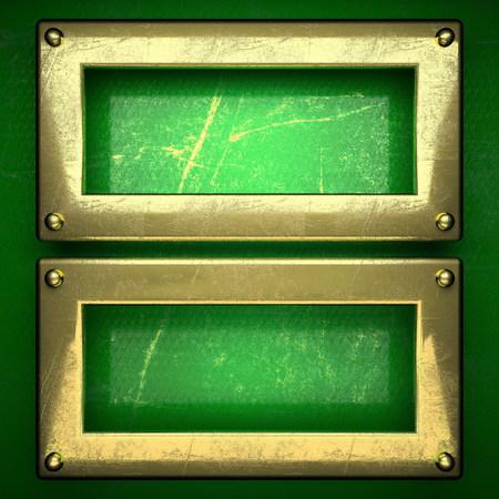 karats: golden background painted in green. 3D illustration