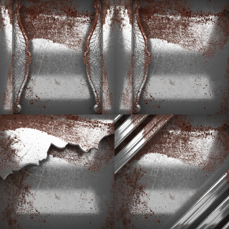 scratch pad: rusted metal texture background set