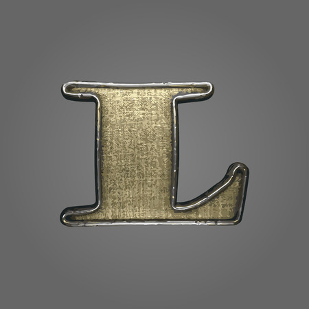 l vector fabric letter