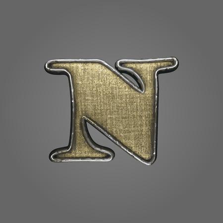 n vector fabric letter Illustration