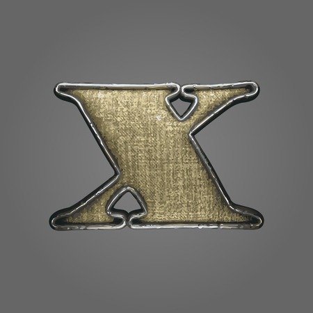 x vector fabric letter