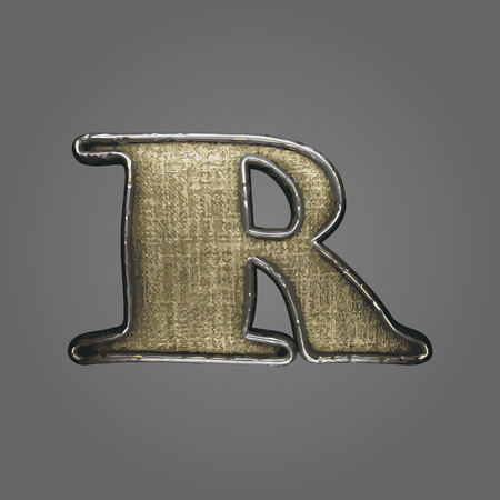 r vector fabric letter Illustration