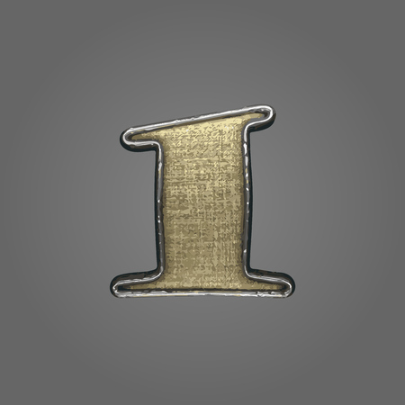 1 vector fabric letter