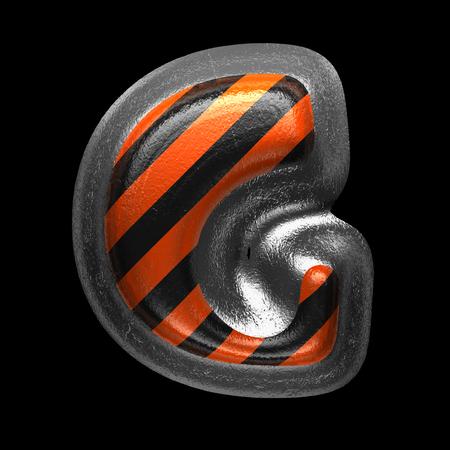 g isolated metal letter on black. 3D illustration Stock Photo