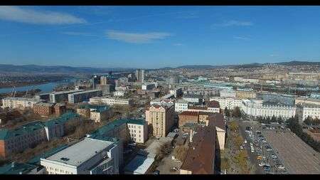 Ulan-Ude from aerial view 4k