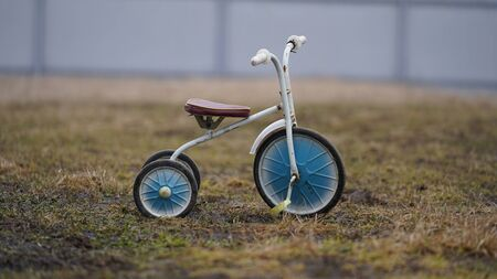 Children's tricycle from the Soviet Union, vintage Stok Fotoğraf