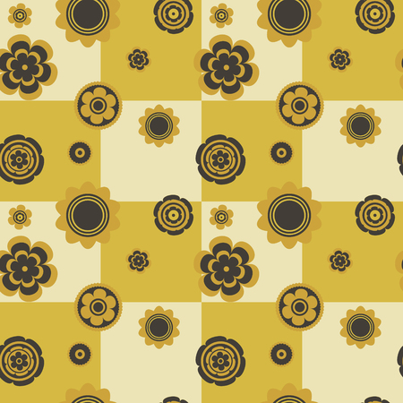 Flowers seamless  vector pattern.