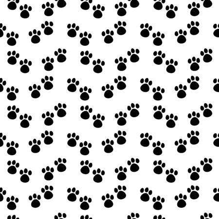 Black cats paws vector seamless pattern Stock Illustratie