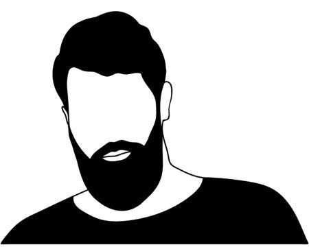Men with beard vector isolated avatar