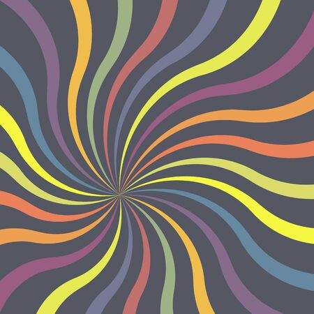 Abstract colorful twirl vector background