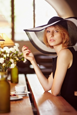 Beautiful girl in a beautiful interior. Portrait.