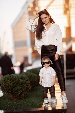Young girl and child in white shirts Stok Fotoğraf