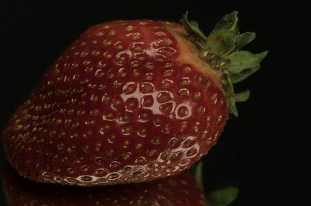 Strawberry on table, closeup strawberries