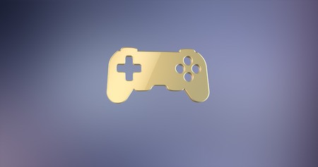 joy pad: Game Console Gold 3d Icon