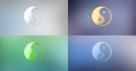 tao: Yin and yang 3d Icon Stock Photo