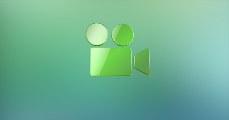 Video Cam Green 3d Icon